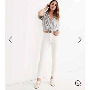 "NWT Madewell 9"" Highrise white denim"